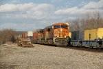 BNSF 6891 Leads a WB stack into the setting Sun.