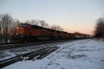 BNSF 6839 Leads a EB stack at early morning.