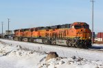 BNSF 8164 and 3 other's cut away from a stack train.