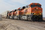 BNSF 7993,7992,7991 lead this stack east..