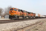 BNSF 7187 Leads Ex Santa Fe train 199 westbound.