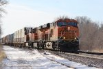 BNSF 8053 Newer C4 leads a stack train down the Old Santa Fe.