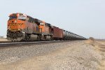 BNSF 6755 Drags a loaded Oil can down the Marceline Sub.