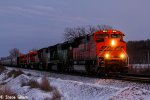 BNSF 9044 Leads a Epic Lash up on the BNSF Transcon.