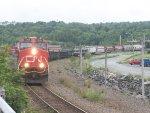 CN 2268 leads train 120