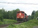 CN 8936 leads train 308