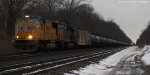 UP 4129 and CSX 3141 on 64E east. MP218.