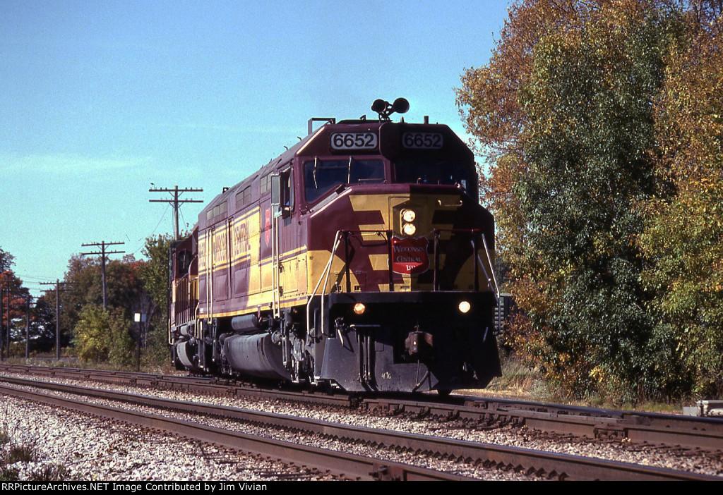 WC T046 hits CP Rails