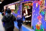 Santa on the Skokie Swift!
