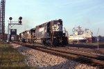 NS 3180 lugs a coal train over Bridge 5 and the Elizabeth River