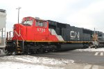 A Westbound mixed freight leaves CN's yard- Third Unit