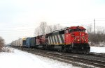A rare sighting of a CP loco on the CN main : Second Loco