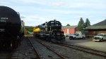Front view of the CBFX locomotive