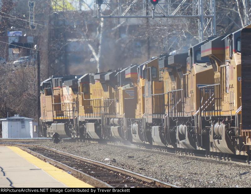 7 UP locomotives