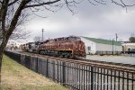 NS 8102 PRR Heritage unit leads a Manifest Train in Orange, VA