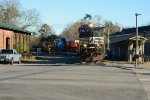 around the station at Branchville with the load