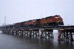 Oil Train in the Snow