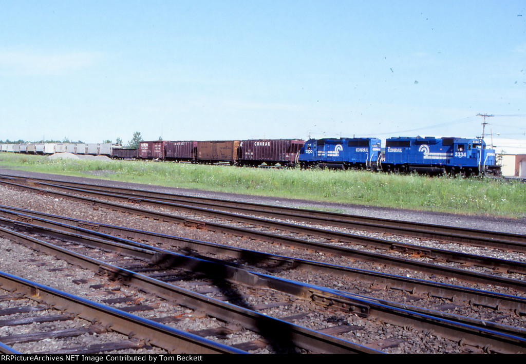 Westbound across the yard