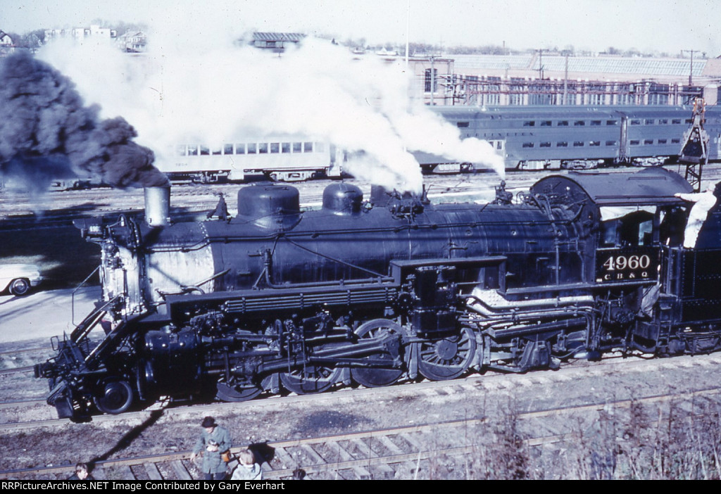 CBQ 2-8-2 #4960 - Chicago, Burlington & Quincy
