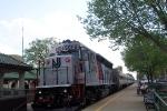 Shoving its train to Glen Rock