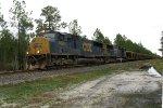 CSX 4690 on CSX Loaded Rail Train