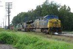 CSX 698 on CSX Train with two AC6000s and five SD40-2s.