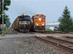 BNSF Passes Parked Train