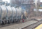 Tankers being pulled by UP, CSX and CN locomotive
