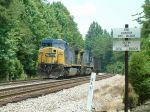 Crewless coal train in the siding