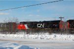 CN #120 with a brand new GE ES44AC