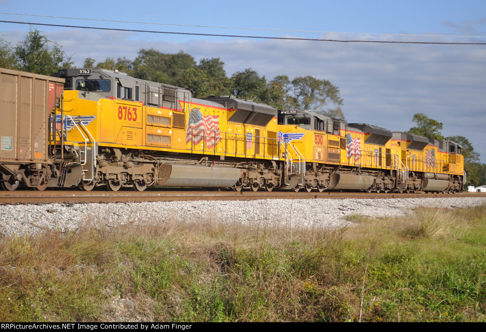 UP 8763 Going Away of CSX N050