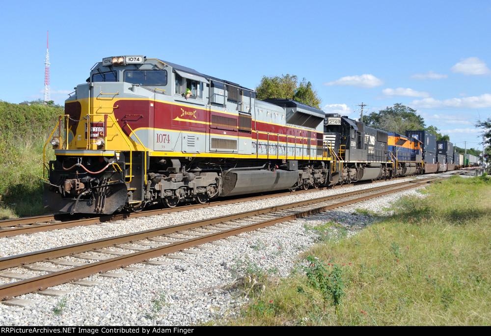 NS 1074 on NS 210