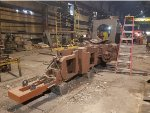 J&L Steel 58's frame at Reichard Industries for heavy welded repair work
