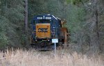 CSX 2479 with Jordan spreader hiding in the woods