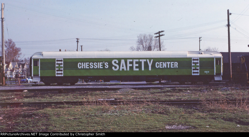C&O CSC-2 (Chessie's Safety Center) at Lincoln Park. May 1976 photo