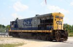 CSX 5867 has dropped off cars at a local industry