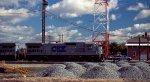 CSX 7541 leads a train southbound