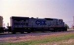 CSX 7547 leads a southbound train