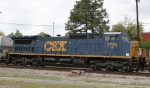 CSX 7734 shows off its new paint