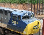 CSX 7357 must have had some wreck repairs... now has cab numberboards