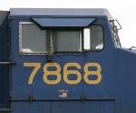 CSX 7868 displays some non-standard decals