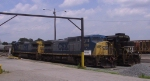 CSX 7910 & 7775 sit in the NS yard