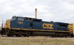 CSX 7300 still sports its red marker lights