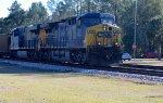 CSX 353 leads empty rock train north