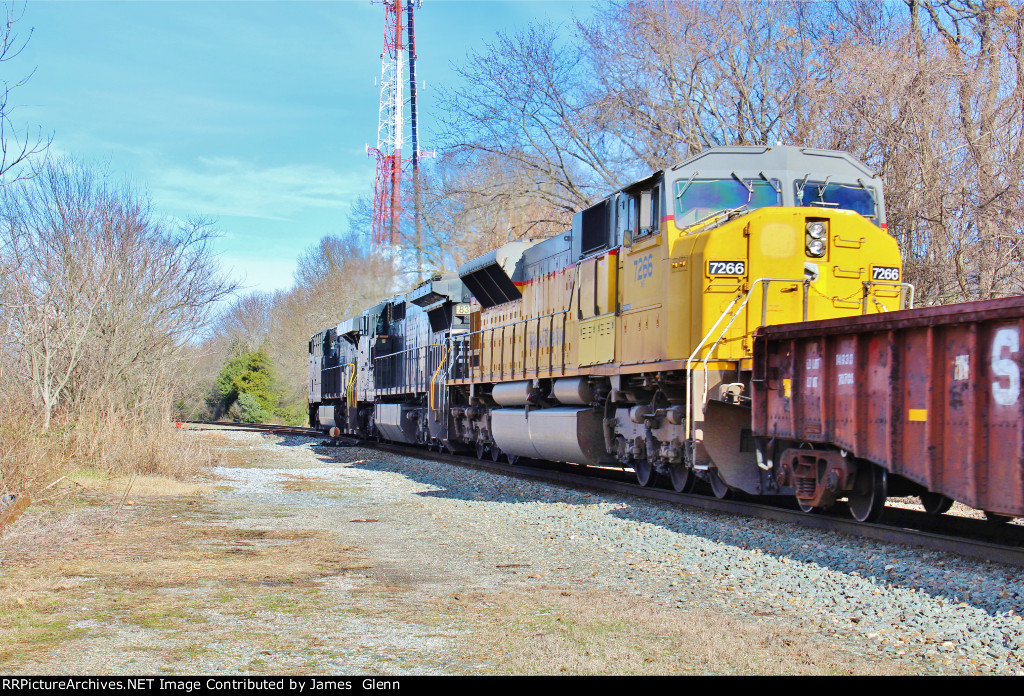 "A Norfolk Southern Westbound rolls around the infamous ""Newton Curve"" into the former Newton Depot area and Carolina & North-Western Interchange/Yard. 1/11/16"