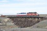 CBRW GP-9 302 Southbound at Bassett Jct.
