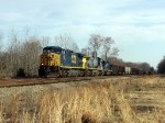 Empty NB CSX Hopper train w/ HLCX Unit!