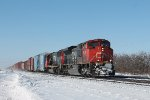 An Eastbound mixed freight