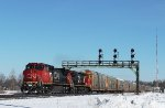 A Westbound mixed freight #393