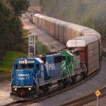 Ex-Conrail leads autoracks through the swamp